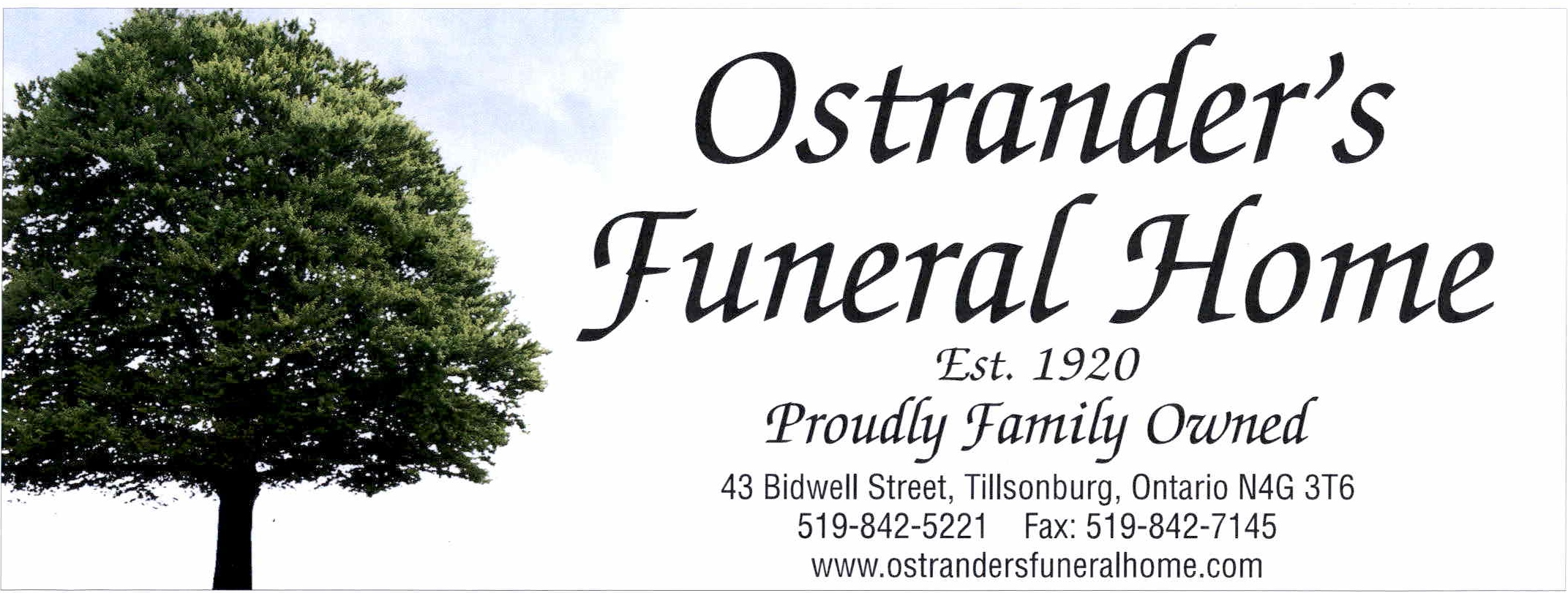 Ostrander's Funeral Home Limited - Tillsonburg, ON N4G 3T6 - (519)842-5221 | ShowMeLocal.com